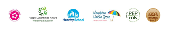 Milton Keynes Council Logo | COE Logo | Univeristy of Bedford Logo | Internatonal School Award Logo | Health Schools MK Logo